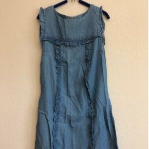 Philosophy S Chambray Shift Dress Ruffle